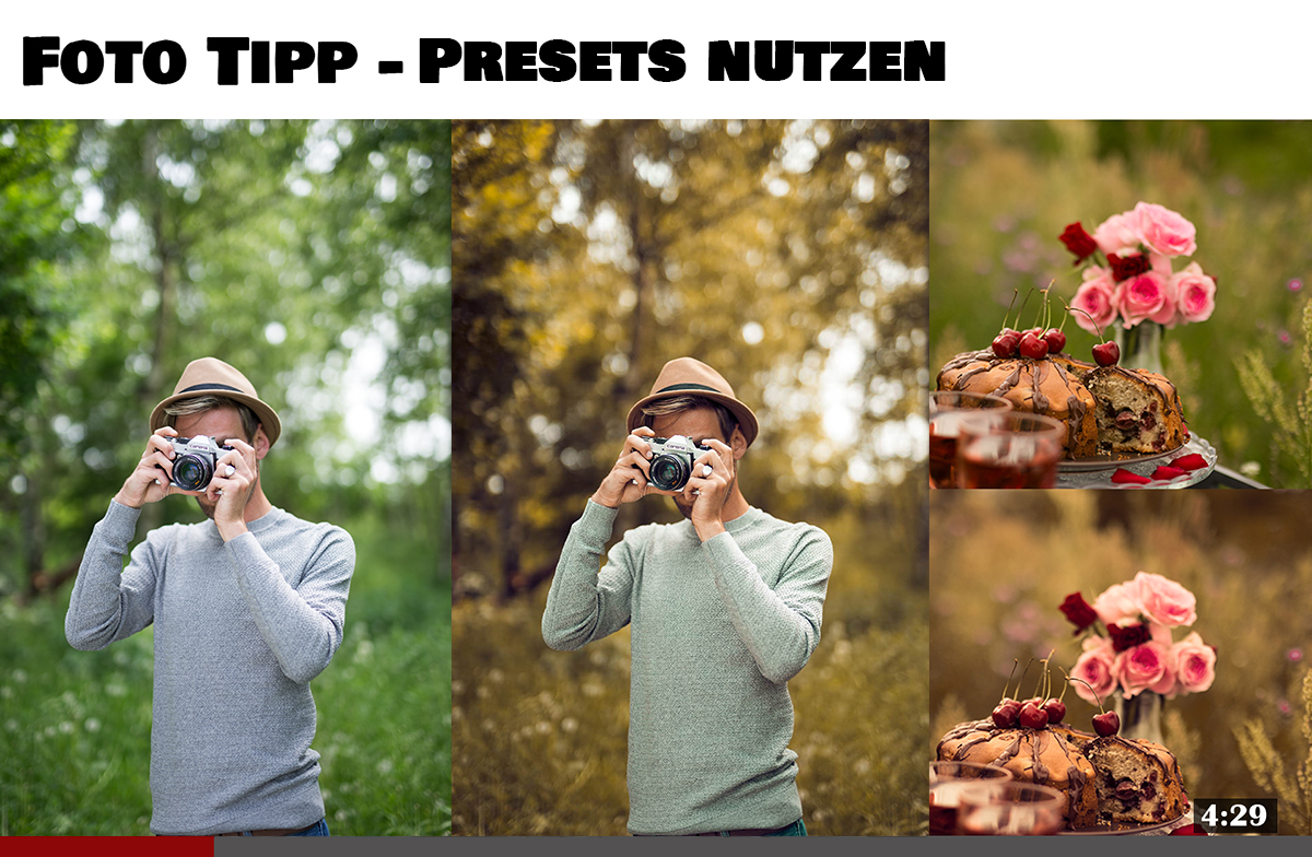 Presets für Lightroom Fotografie Tipp